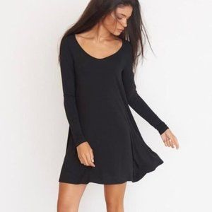 Flowy Soft Garage Long Sleeve Mini Dress
